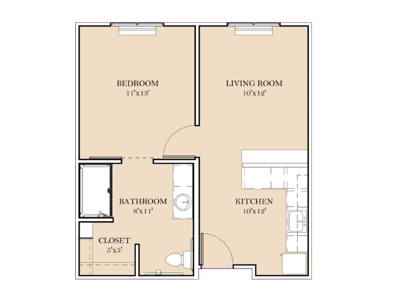 Assisted Living - 1 Bedroom - D