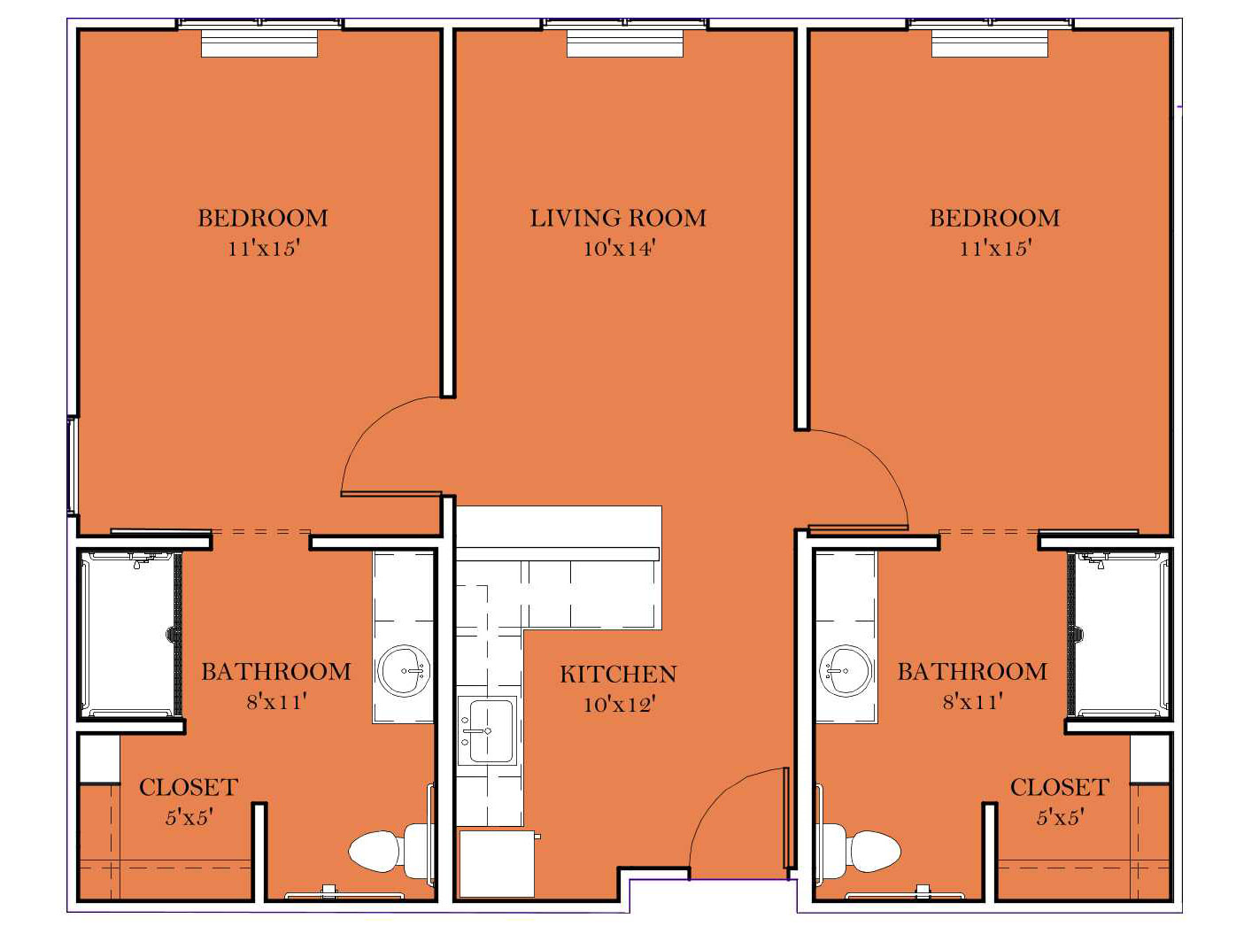 Assisted Living 2BR/2BA - G