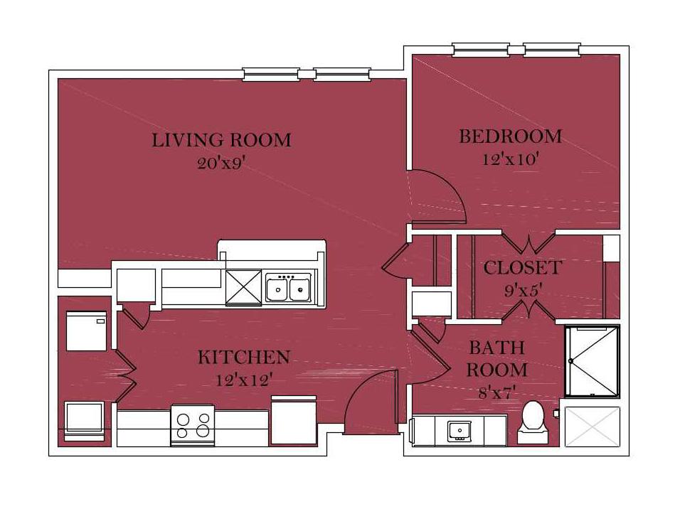 Independent1Bedroom A-5